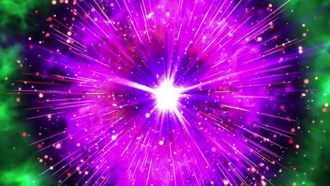 Hyper supernova or bigbang blast with lightning, thunder bolt, shock wave explosion effect particle pattern in black isolated background in 4k ultra HD video in extreme thrilling powerful bomb 2