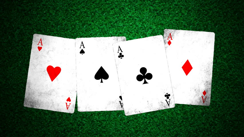Ace poker with random intensity spotlight looping animation..   Shutterstock HD Video #1380277