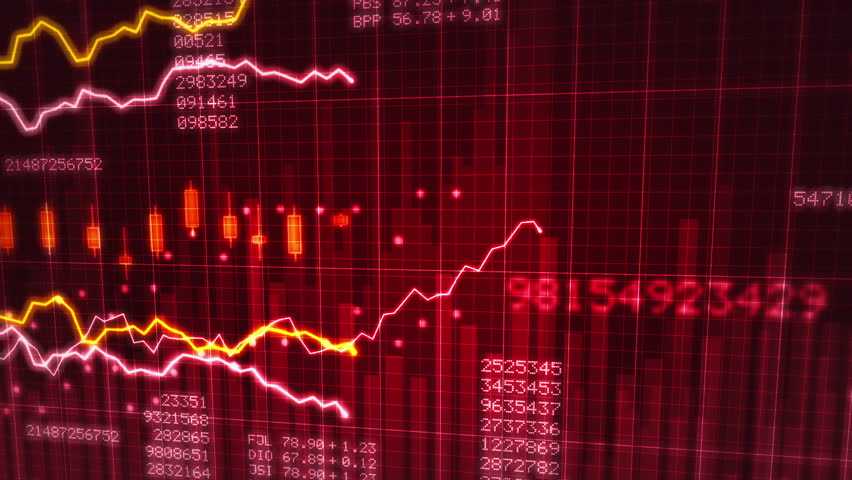 Financial chart. 3 in 1. White, red and blue. Financial data and growing charts. | Shutterstock HD Video #13807538