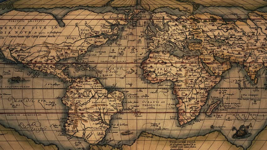 Videoclip de 39ortelius39 old world map slow zoom shutterstock gumiabroncs Choice Image