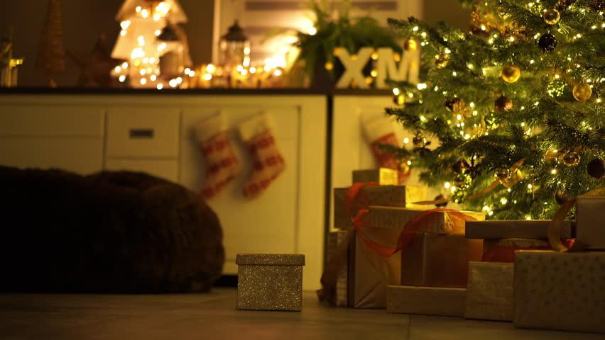 Merry Christmas Beautiful Video With Animated Fireplace, Xmas Tree ...