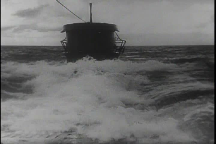 CIRCA 1950s - Airplanes attacked the German u-boats in the Atlantic successfully in the 1940s.