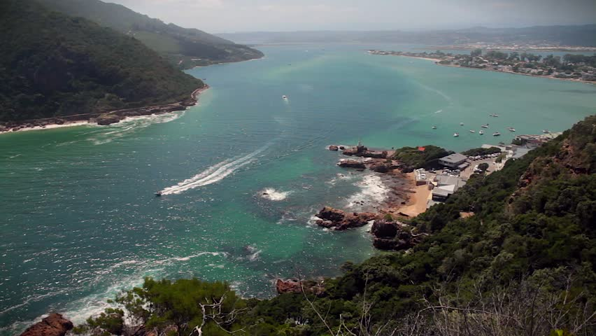 Wide ,overhead shot of Knysna Lagoon,South Africa