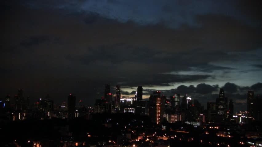 Singapore sunrise timelapse