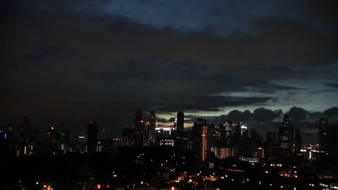 Singapore sunrise timelapse