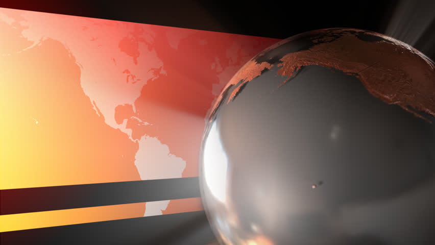 looping animation of a reflective stylized globe