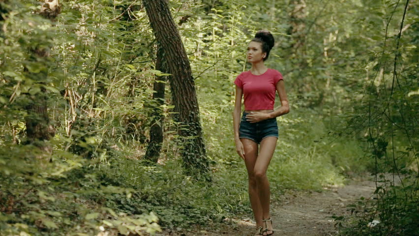 Model nude forest
