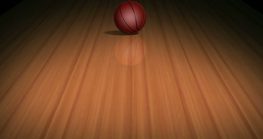 Rolling Basketball on Parquet with Apha Channel 4 K. High quality render of a 3 D basketball rolling on parquet with alpha channel. Loop-ready file. | Shutterstock HD Video #14040197
