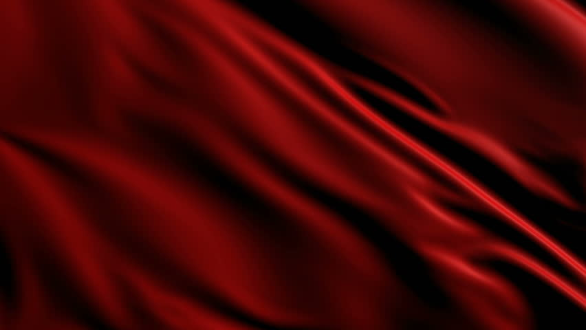 animated red wavy silk fabric background