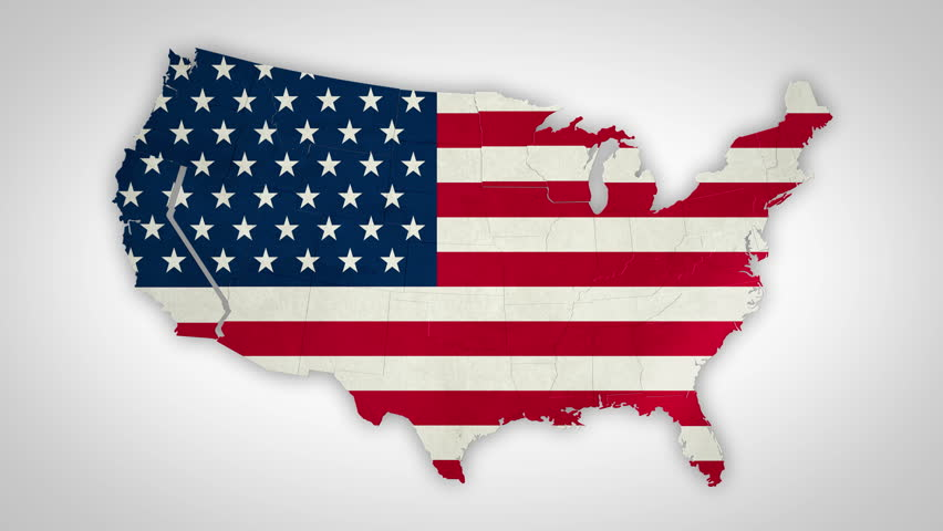 Nice Animation Of The National USA Flag In D Map Of United States - Hd us map background