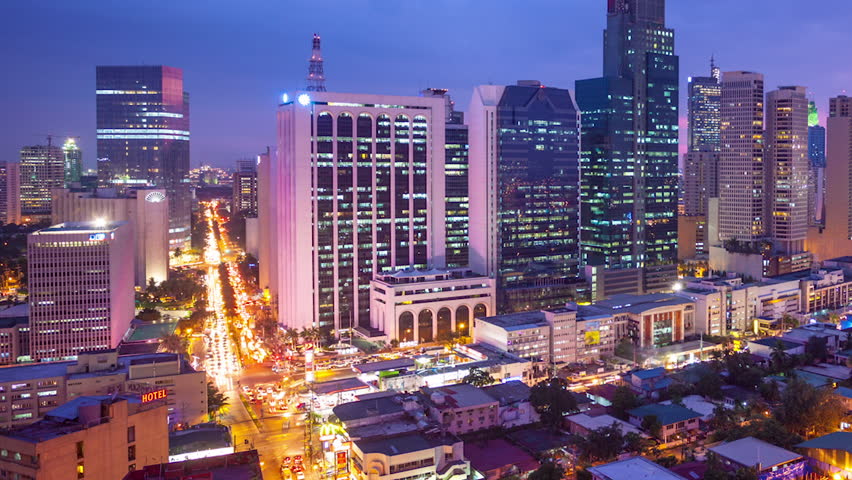 Timelapse view over makati city in metro manila philippines by timelapse view over makati city in metro manila philippines by night stock footage video 14111477 shutterstock sciox Image collections