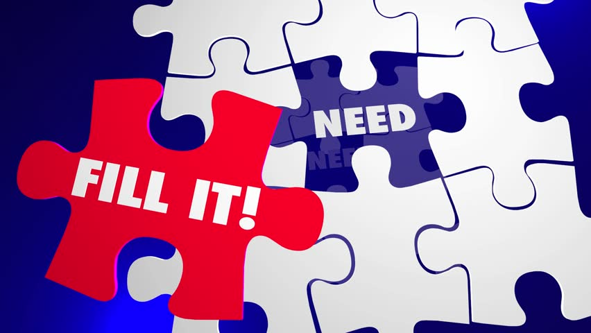 Fill the Need Puzzle Piece Hole Solve Customer Problem | Shutterstock HD Video #14153207