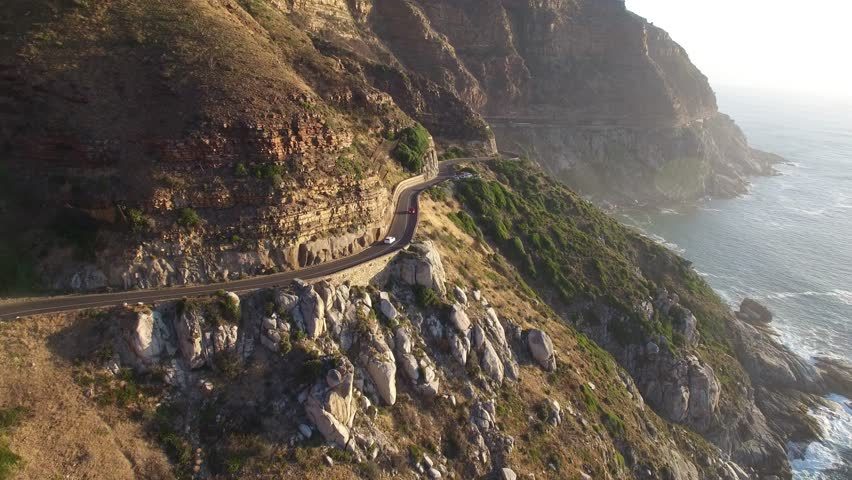 Cape Town Following Chapman's Peak Drive Road - 4K Drone Footage | Shutterstock HD Video #14158217