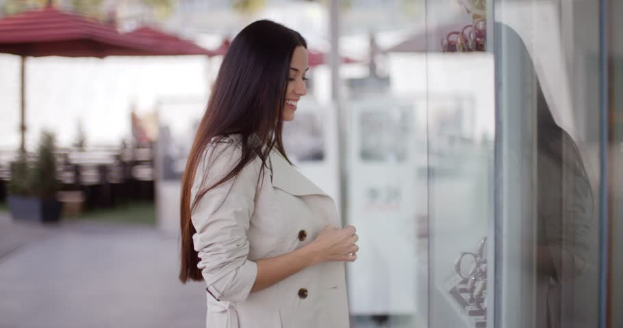 Young woman shopping in an urban mall | Shutterstock HD Video #14161967