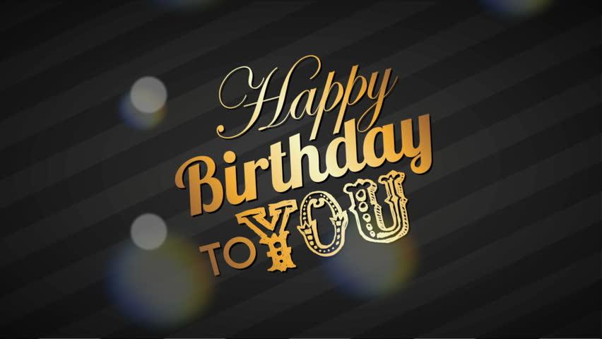 Happy Birthday Design Video Animation Stock Footage Video 100