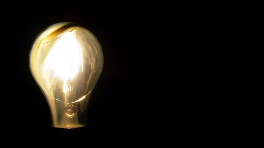 A Light Bulb Illuminates A Dark Room, Much Like An Idea In Our Mind. Stock  Footage Video 1426087 | Shutterstock