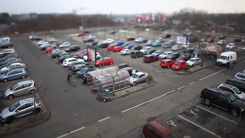 Mainz Parking Lot Tilt Shift Timelapse