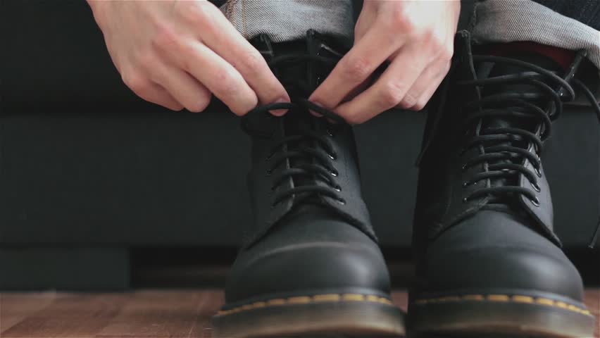 Tying Boots