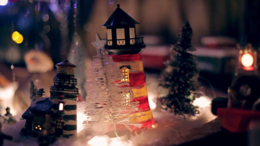 miniature train under xmas tree stock footage video 100 royalty free 14377387 shutterstock - Train Under Christmas Tree