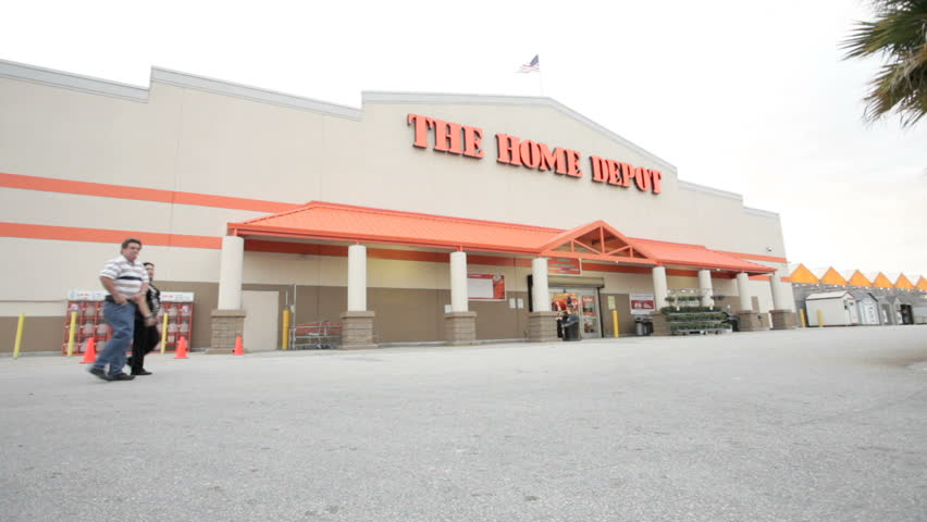 MIAMI, FLORIDA - OCTOBER 3: Static shot of video Home Depot exterior October 3, 2011, Miami, Florida, United States. The Home Depot, Inc. is the world's largest home improvement specialty retailer and the fourth largest retailer in the United States.
