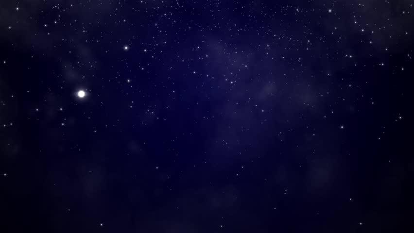 Snowfall On Darkly Dark Blue Stock Footage Video 100