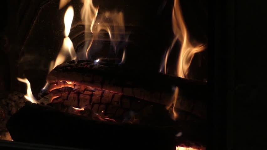 Fire. Bonfire Burning At Night. Fire Burning Brightly, Heat, Light ...