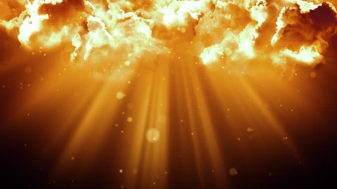 Worship and Prayer based cinematic clouds and light rays background loop in 4K HD resolution. Useful for divine, spiritual, fantasy concepts.