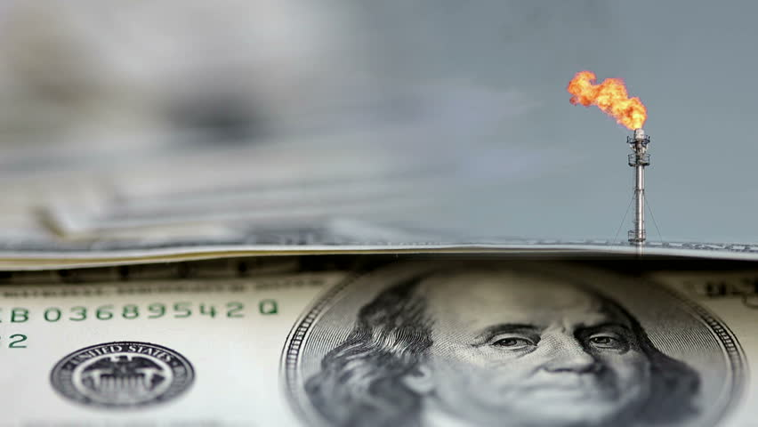 Alpha layers on the dollar and oil. with space for text    Shutterstock HD Video #14448187