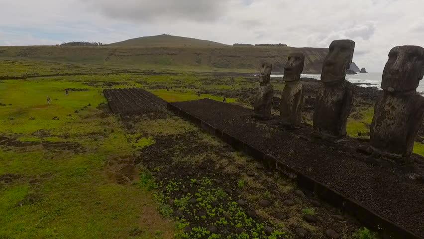 Easter Island, Chile - November 6, 2015: Easter Island, Chile - 7