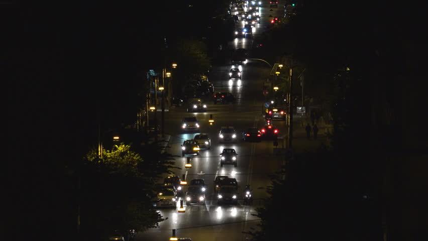 Traffic City Night Aerial Crowd Cars Road Drivers People Street Night Evening | Shutterstock HD Video #14460757