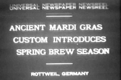 CIRCA 1930s - Mardi Gras festival begins brewing season.