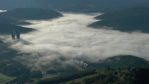 UNKAI(sea of clouds) at Tomamu, in Shimukappu Village, Hokkaido, Japan.