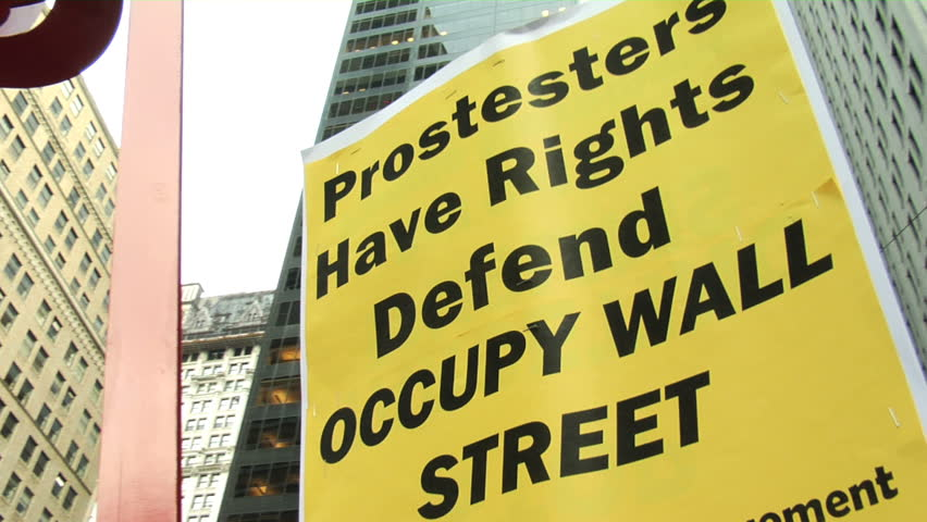 NEW YORK - SEPT 30: Protesters prepare to march to One Police Plaza on Day 14 of Occupy Wall Street September 30, 2011 in New York.