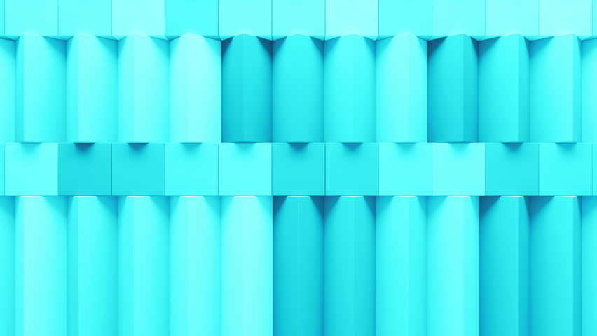 Abstract rectangular and box elements background with randomly rotated elements, 3d render or boxes and rectangles with fillet edges, loopable | Shutterstock HD Video #14550607
