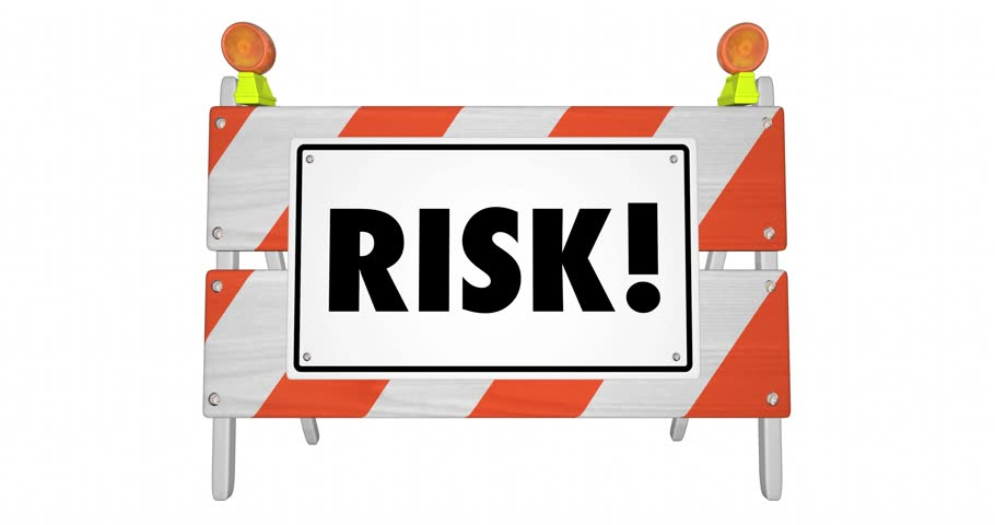 Risk Danger Warning Sign Road Barricade Hazard Animation