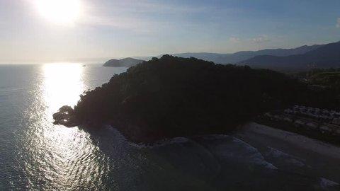 Sunset on Litoral Norte (northern coastline) of Sao Paulo State, Brazil