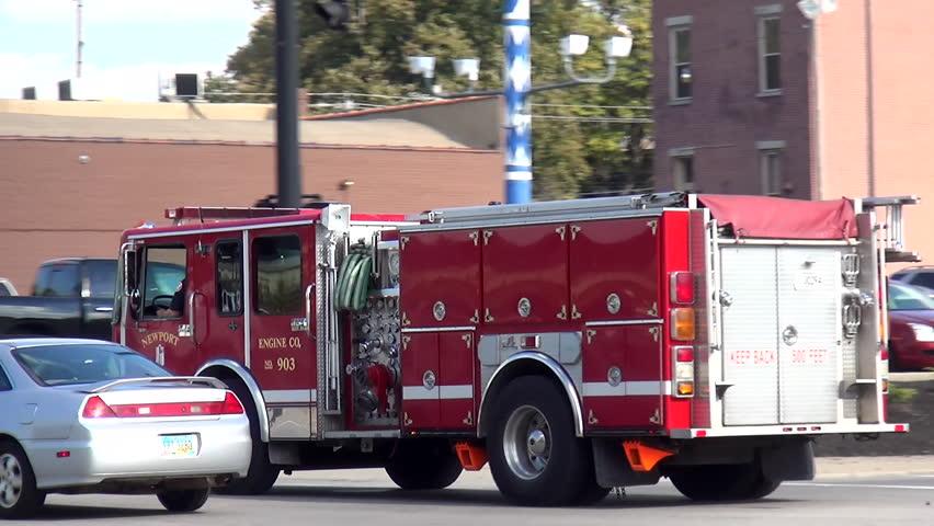 New Port Fire department Engine - CINCINNATI, OHIO/USA OCTOBER 10, 2013