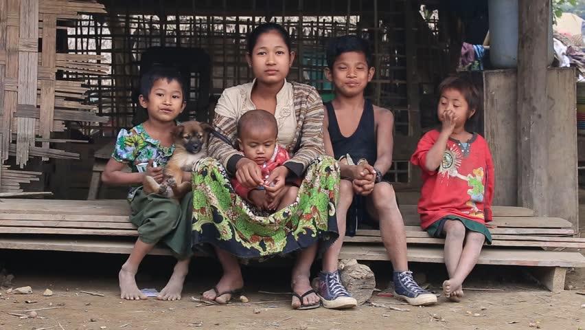 Mrauk-U, Myanmar - January 28, Stock Footage Video 100 -3333