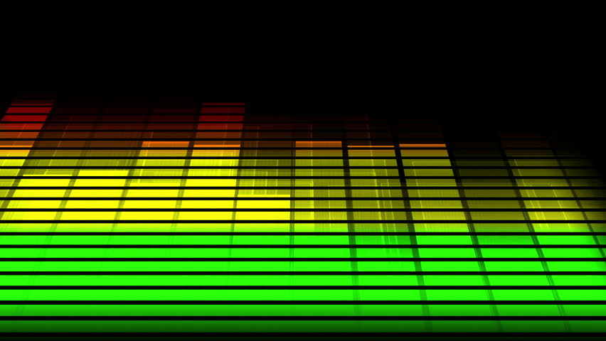 Music Equalizer Graphics Moving Bars  Stock Footage Video (100