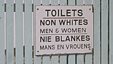 SOUTH AFRICA - 1973: apartheid sign