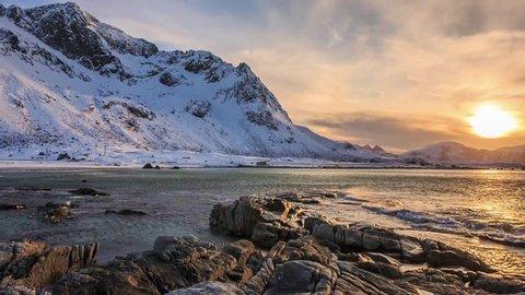 Cinemagraph loop - Lofoten beach in Norway - Motion photo