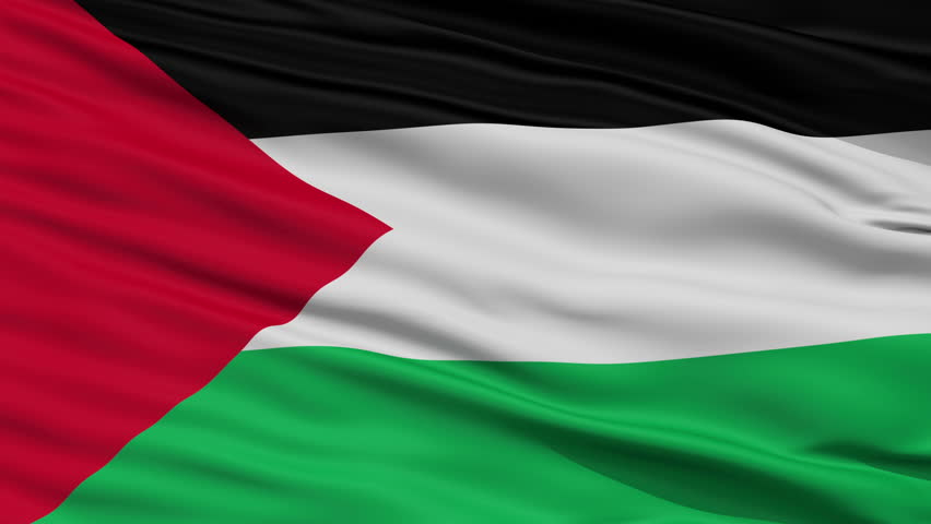 Flag of jordan waving in the wind seamless looping 3d generated stock footage video 7398556 - Palestine flag wallpaper hd ...