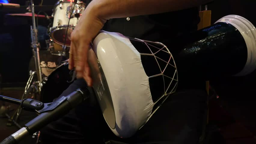 Performance of a man on a Goblet Drum ( Darbuka ) | Shutterstock HD Video #15018286