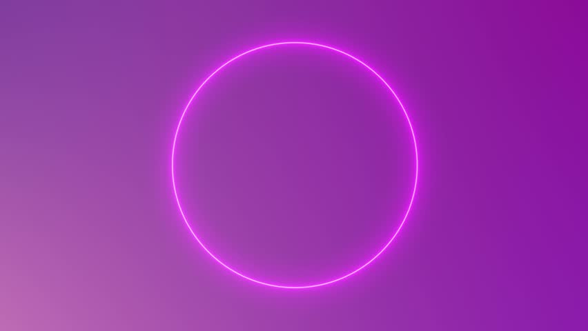 Abstract neon circle loop purple motion background | Shutterstock HD Video #15041107