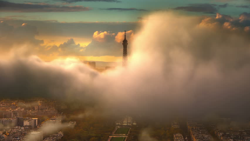 Flying Over Paris | Shutterstock HD Video #15041467