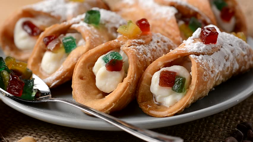 Sicilian cannoli - traditional Italian sweets