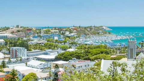 Nouméa New Caledonia Exotic Island Destination Overlook with Tropical Blue Pacific Ocean Water on a Sunny Summers Day