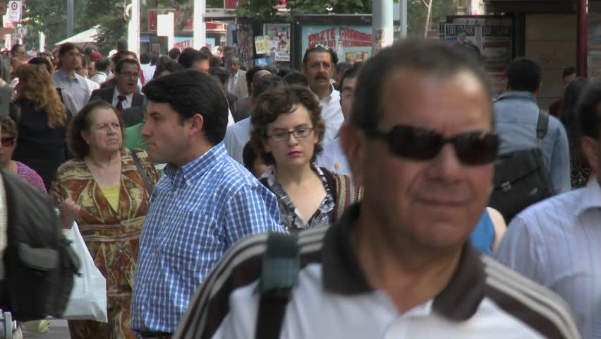 SANTIAGO, CHILE - CIRCA 2009: (Timelapse View) Foot traffic on Huerfanos circa 2009 in Santiago, Chile.