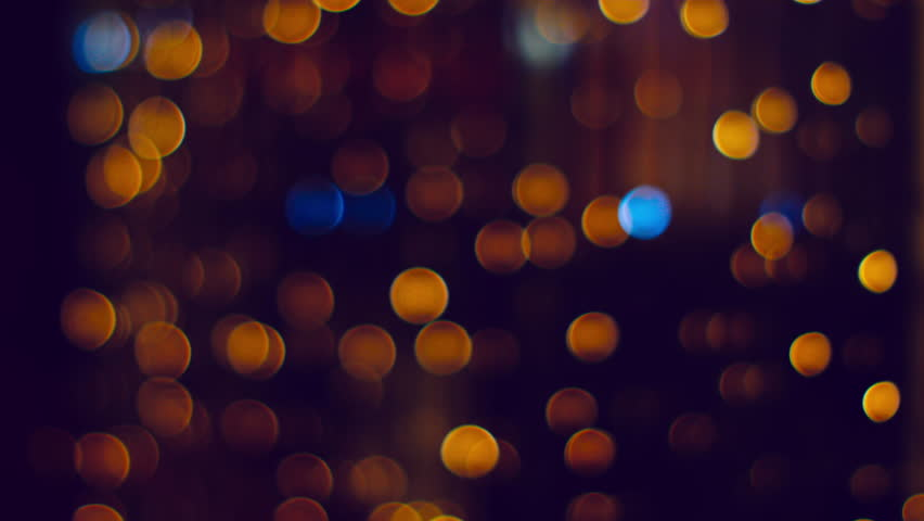 Orange Bokeh Lights Background Loop Moving Particles