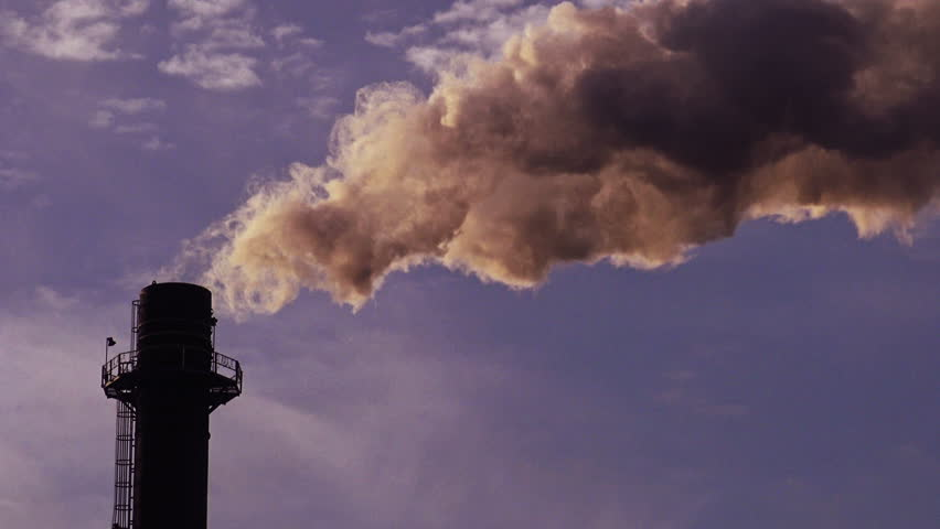 Industrial stack or smoke stack, Greenhouse Gas Emission